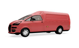 Future cargo van isolated view Royalty Free Stock Photography