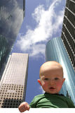 Future CEO1. Boy with Buildings Stock Photos