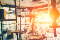 Future of chemical science and research laboratory stock image