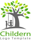 The future of the children. This logo illustrates the childhood of children being torn apart by exploitation, broken home parents and so on Stock Photo