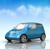 Future city car concept on blue background Stock Photography