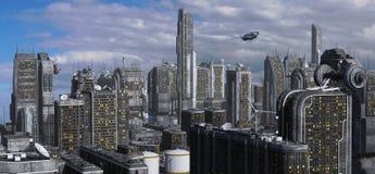 Future Cityscape 3D Illustration Royalty Free Stock Photos