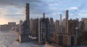 Future Cityscape 3D Illustration Royalty Free Stock Image