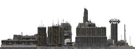 Future Cityscape Isolated On White 3D Illustration Royalty Free Stock Image