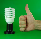 The future of compact fluorescent lamps Stock Photography