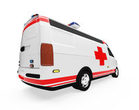Future concept of ambulance truck isolated view Stock Images