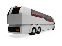 Future concept of bus isolated view. Isolated autobus over white background Stock Photo