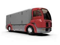 Future concept of cargo truck isolated view Stock Images