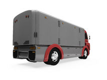 Future concept of cargo truck isolated view Stock Photography