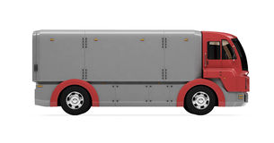 Future concept of cargo truck isolated view Royalty Free Stock Images