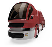 Future concept of cargo truck isolated view Royalty Free Stock Photography