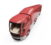 Future concept of cargo truck isolated view Royalty Free Stock Photo