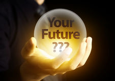 Future concept in crystal ball Royalty Free Stock Photos