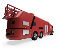 Future concept of firetruck isolated view Royalty Free Stock Image