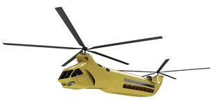Future concept of helicopter isolated view. Isolated helicopter over white background Stock Photos