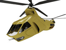 Future concept of helicopter isolated view. Isolated helicopter over white background Royalty Free Stock Photo