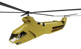 Future concept of helicopter isolated view. Isolated helicopter over white background Stock Image