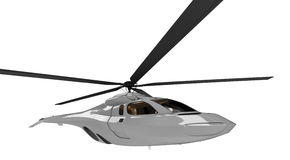 Future concept of helicopter isolated view. Isolated helicopter over white background Stock Images