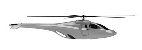 Future concept of helicopter isolated view. Isolated helicopter over white background Royalty Free Stock Images