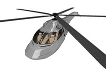 Future concept of helicopter isolated view. Isolated helicopter over white background Stock Photo