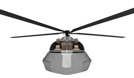 Future concept of helicopter isolated view. Isolated helicopter over white background Stock Photography