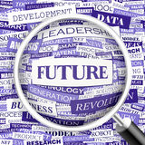 FUTURE. Concept illustration. Graphic tag collection. Wordcloud collage Stock Images