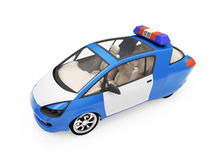 Future concept of police car isolated view Royalty Free Stock Photography