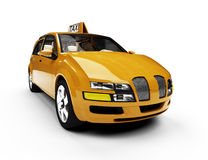 Future concept of taxi car isolated view Royalty Free Stock Photo