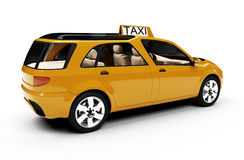 Future concept of taxi car isolated view Royalty Free Stock Images