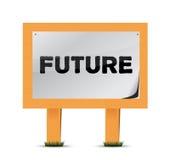 Future conception en bois d'illustration de signe illustration de vecteur