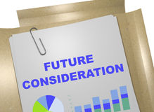 Future Consideration - business concept Stock Image