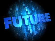 Future on Digital Background. Royalty Free Stock Photography