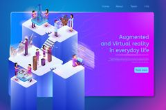Future Digital Services for Work Vector Web Banner royalty free illustration