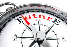 Future direction conceptual compass. On white background Stock Images