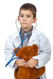 Future doctor boy examination Stock Photos