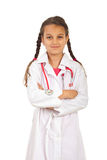 Future doctor girl with arms folded Stock Image