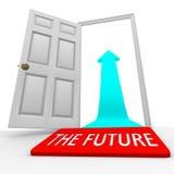 The Future - Door Mat Open Door Arrow Stock Photos