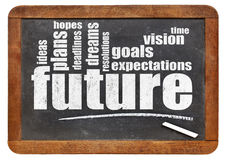 Future, dreams, goals, and hopes Royalty Free Stock Image