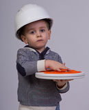 Future engineer. Thinking studio shot Stock Images