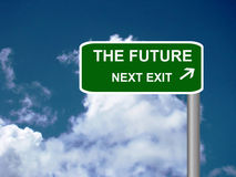 The future exit signpost Stock Photography