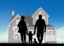 Future famille à la maison illustration de vecteur