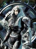 Future female astronaut vector illustration