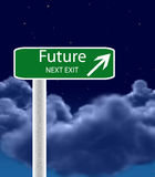 Future freeway exit sign Royalty Free Stock Images