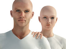 Future generation. Man and woman from future generation Royalty Free Stock Image