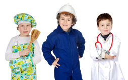 Future generation of workers. A over white background Royalty Free Stock Image