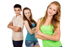 Future generation, young people isolated Stock Images