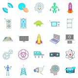 Future generations icons set, cartoon style Royalty Free Stock Photo