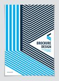 Future geometric design template. Abstract striped textured geom. Etric vector pattern. Layout for Cover, Placard, Poster, Flyer and Banner Design. A4 print Stock Photo