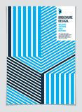 Future geometric design template. Abstract striped textured geom. Etric vector pattern. Layout for Cover, Placard, Poster, Flyer and Banner Design. A4 print stock illustration