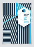 Future geometric design template. Abstract striped textured geom. Etric vector pattern. Layout for Cover, Placard, Poster, Flyer and Banner Design. A4 print royalty free illustration